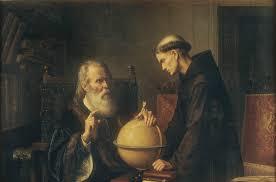 Galilée s'intéressait au mouvement de la terre, non pas à sa forme, déjà connue à l'époque.