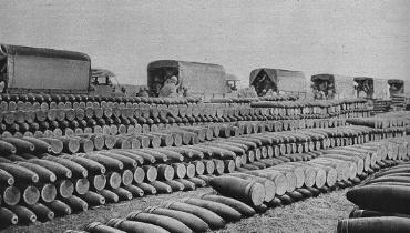 Dépôt de munitions pendant la bataille de Verdun.