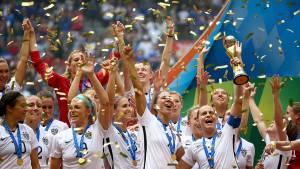L'équipe féminine de football des Etats-Unis, championne du monde en 2015.