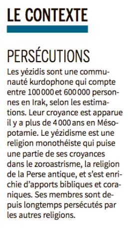 Yezidis Monde 26nov18